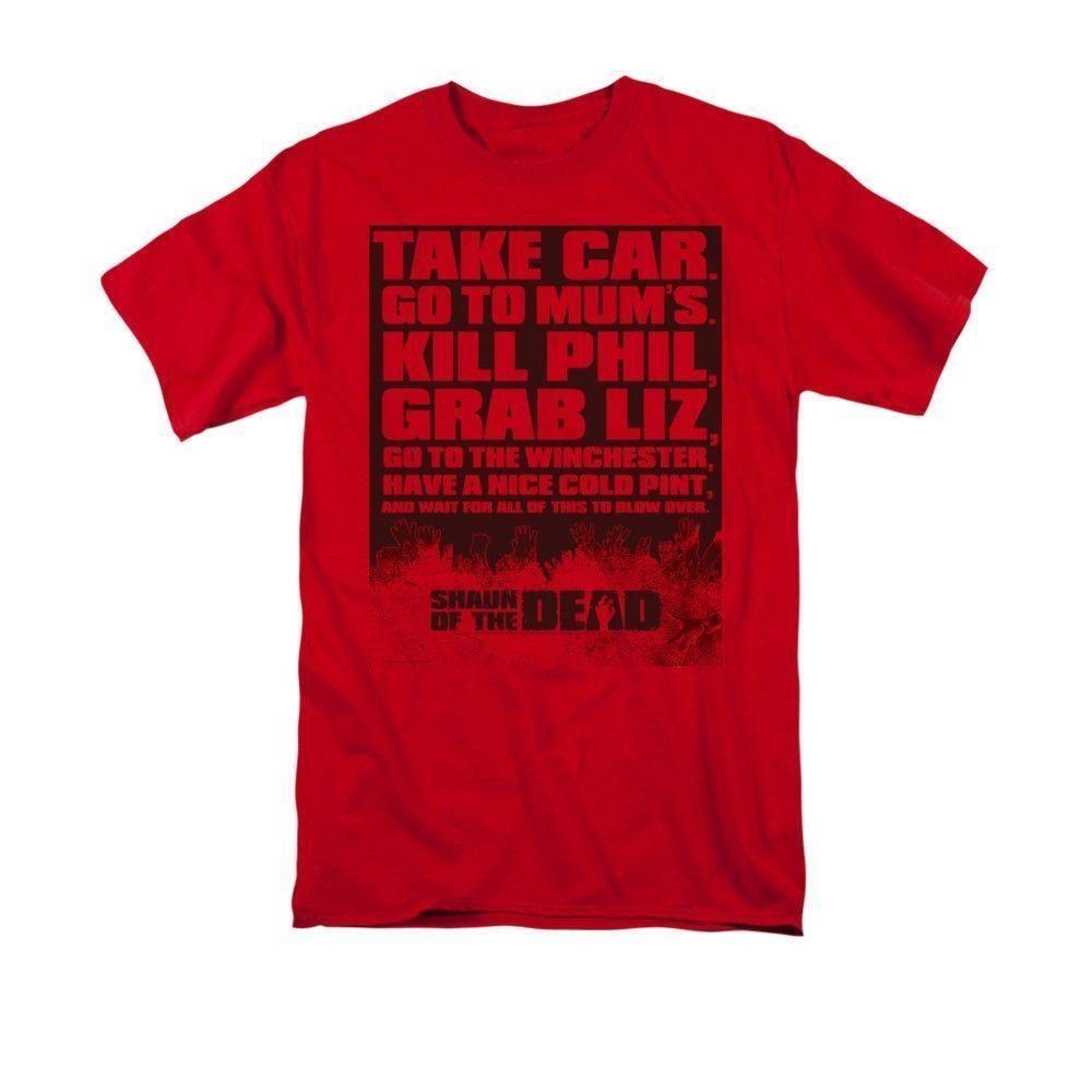 d9eaaaaffe120 Shaun Of The Dead - List Adult T-Shirt Mens 2018 fashion Brand T Shirt  O-Neck 100%cotton T-Shirt Tops Tee