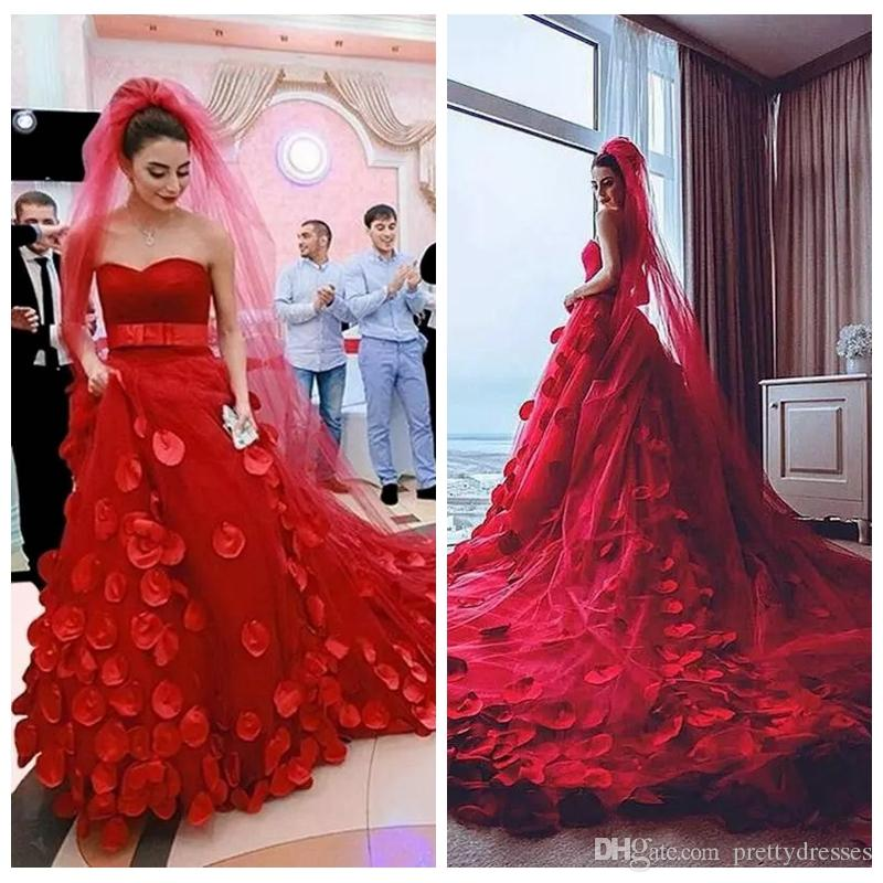 I Do I Do Wedding Gowns: Discount 2019 Sweetheart A Line Red Wedding Dresses With