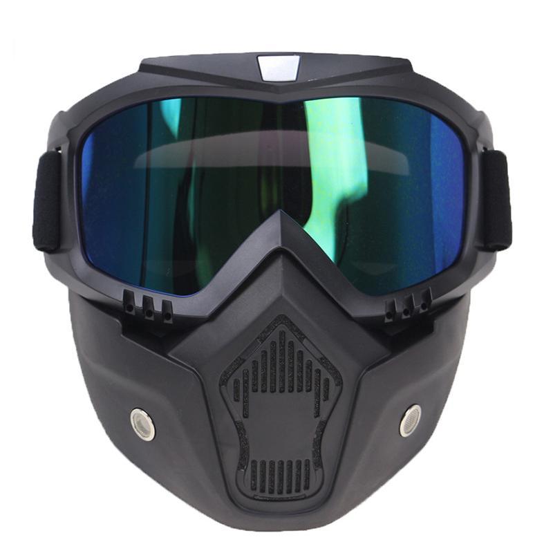 f17ab2edc0 Compre Gafas De Moto Gafas Máscara Visor Ski Snowboard Motocross Oculos  Gafas Para Open Face Motocicleta Medio Casco A $45.48 Del Bqintian    DHgate.Com