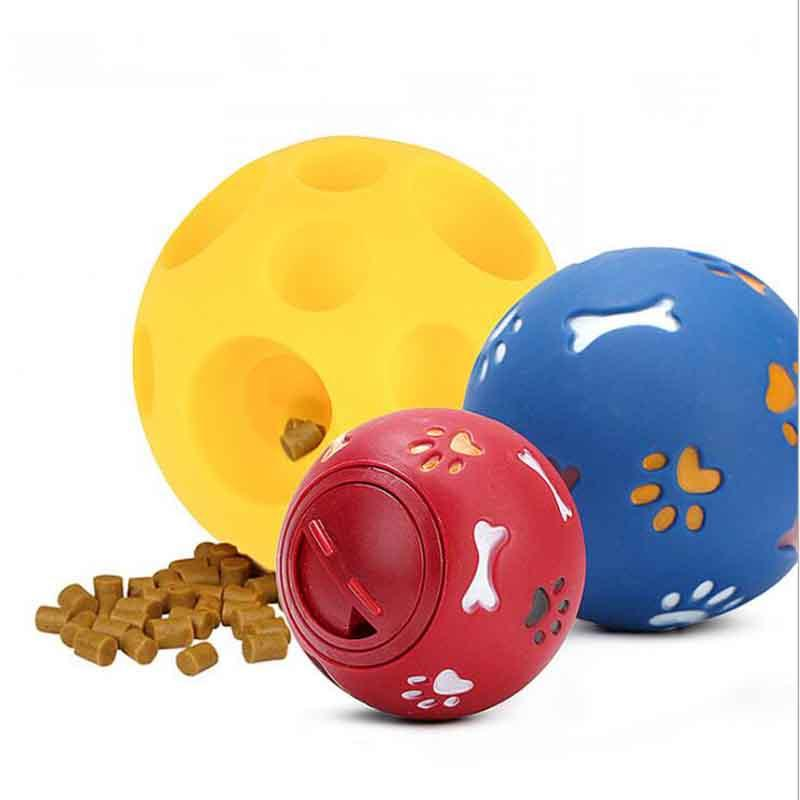 Pet Supplies Dog Toy Bite-resistant Molar Rubber Soft Rubber Leakage Food Ball Puzzle Toys MOQ:10pcs Free Shipping