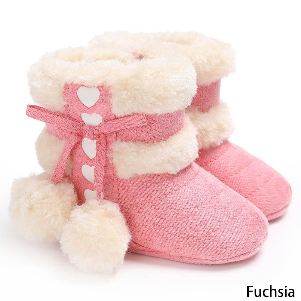 5d29540fa Girls Soft Plush Booties Infant Anti Slip Snow Boots Warm Cute Snow Baby  Girl Winter Boots Cheap Little Girl Boots Girls Brown Leather Boots From ...