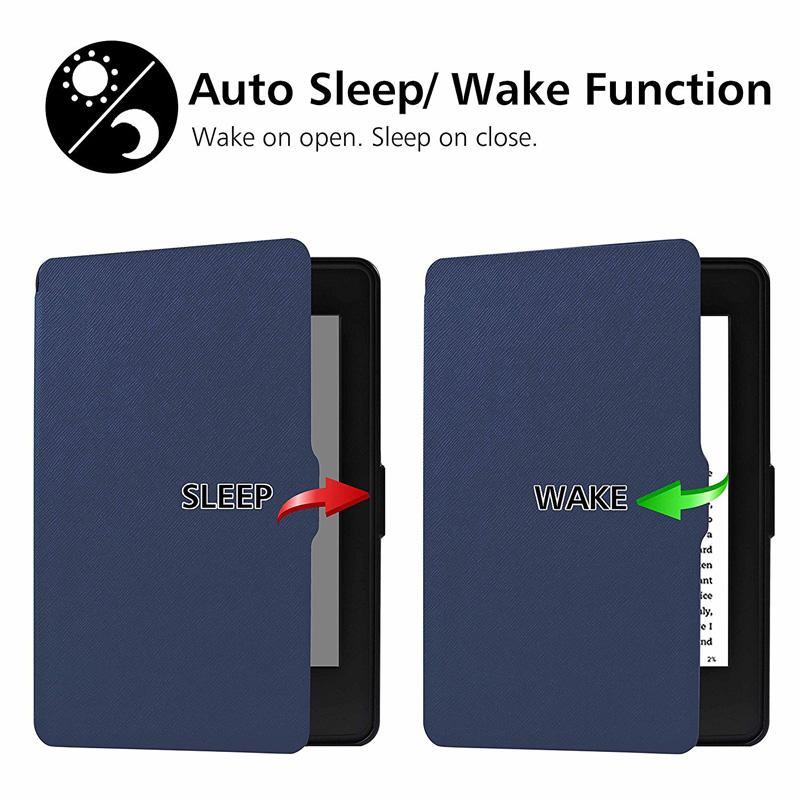 Luxury Ultra Slim Magnetic Flip PU Leather Case Smart Cover for 6 6.0 Inch Amazon Kindle PaperWhite 1 2 3 123 E-Book with Auto Wake/Sleep
