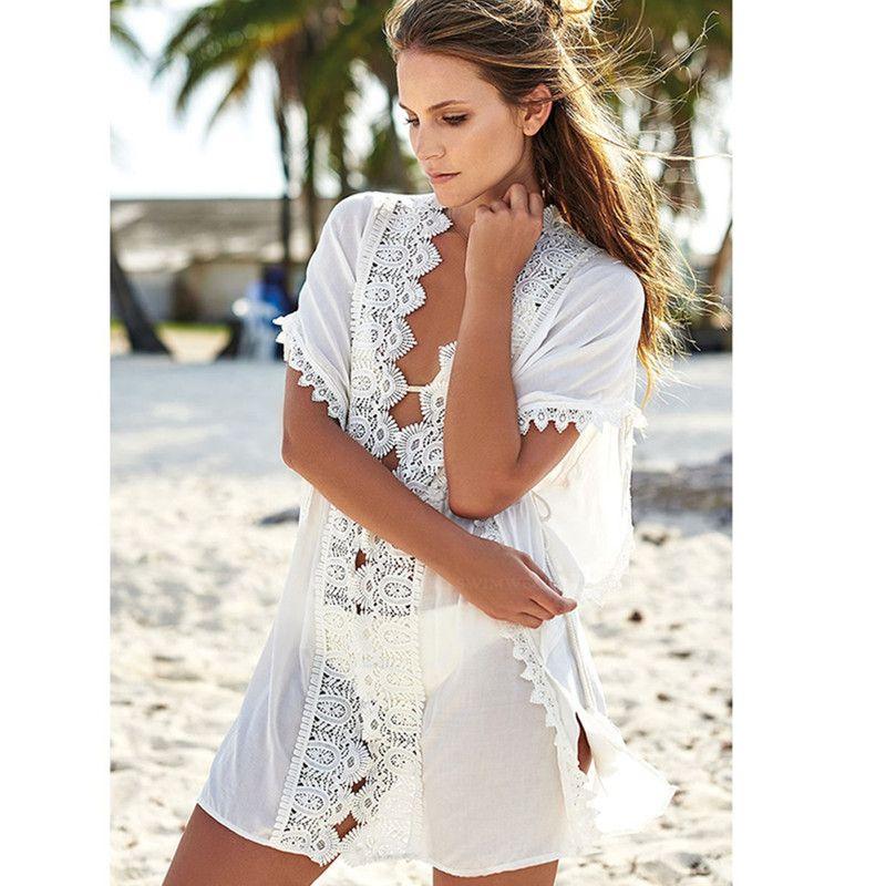 65d6383901 2019 2018 New Womens Summer Lace Crochet Bikini Cover Up Beach Top Kaftan  Caidigan Beach Swimsuit Cover Up Beach Dress From Ukdownload, $17.08 |  DHgate.Com