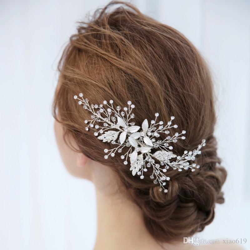 Gorgeous Handmade Silver Leaf Hair Vine Bridal