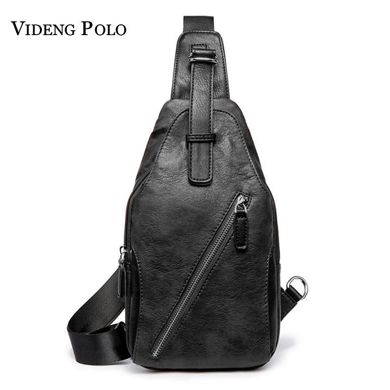 cb02b42077ba VIDENG POLO Brand Fashion Men Waist Pack Casual Crossbody Messenger Bag  Leather Chest Travel Bag Vintage Shoulder Bags Bolsos Messenger Bags  Satchel From ...