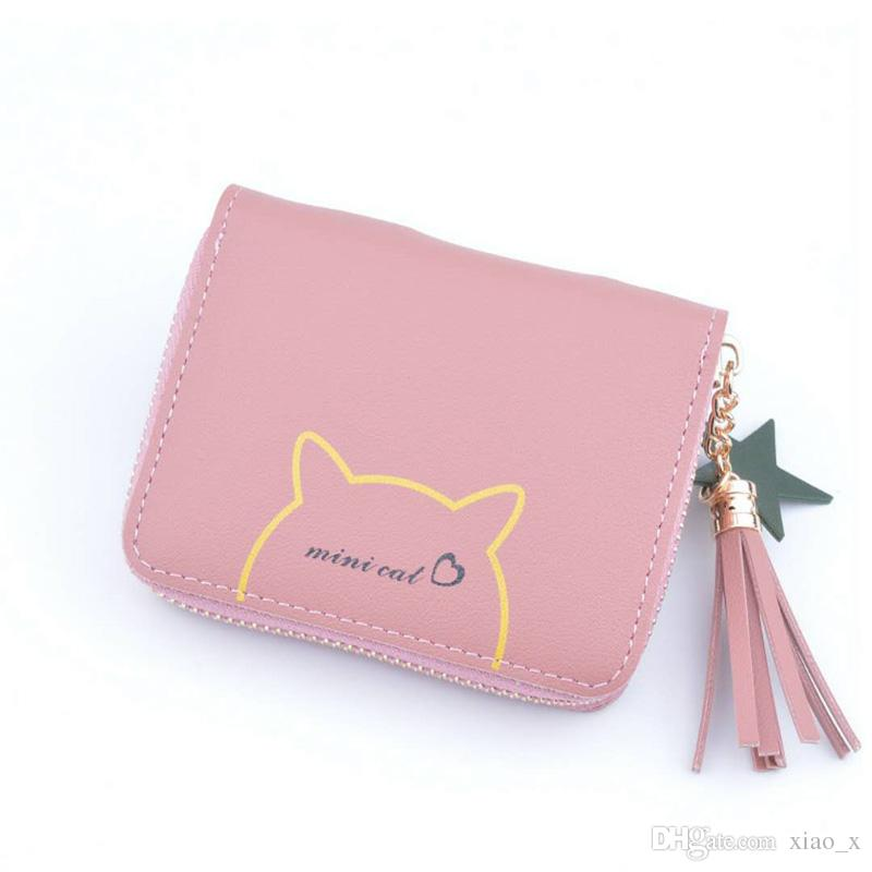 Fashion Short Wallets Women Lovely Zipper Wallets Casual Coin Purses Lady  Credit Card Money Clip Girl Student Mini Wallets Expensive Wallets  Snakeskin ... ed2e357bfee