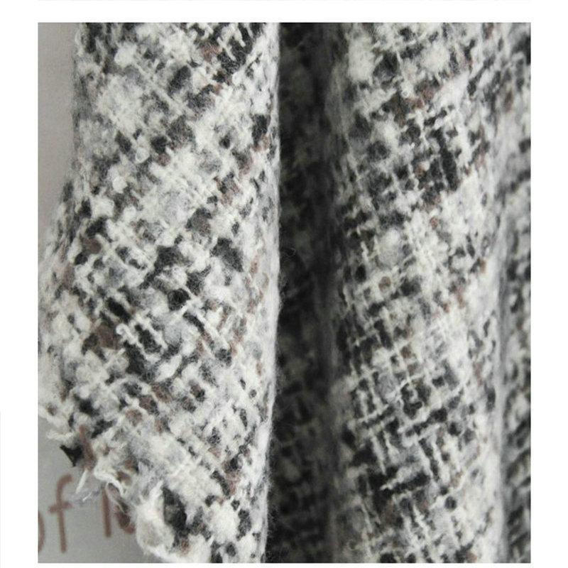 Inverno oversize spessore caldo mantello di lana cashmere acrilico scialli plaid double face wrap moda vintage poncho YOUNGER STORE YG074