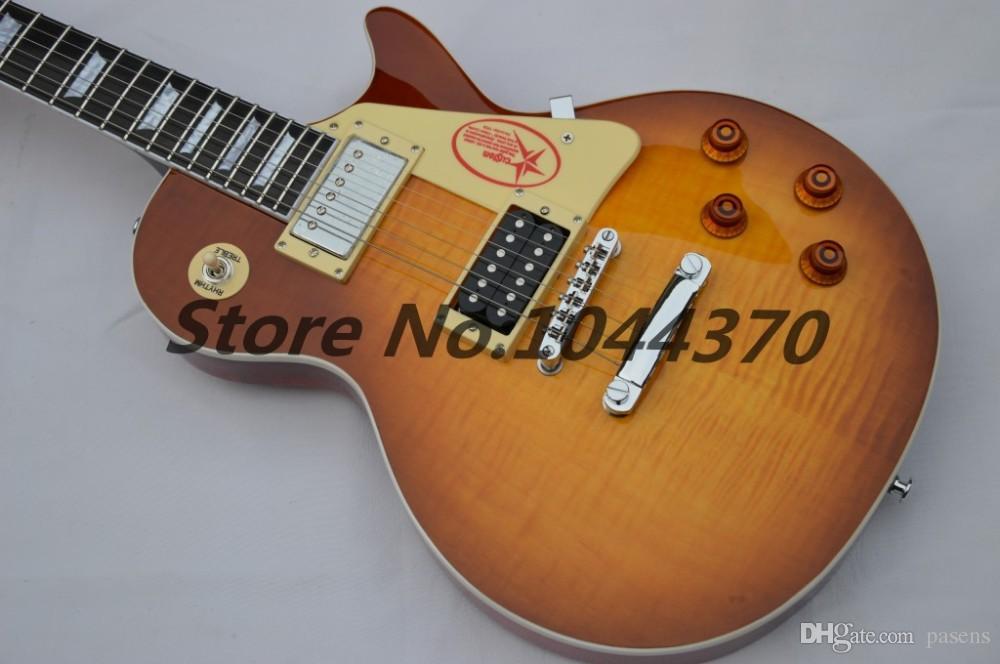 맞춤 상점 1958 지미 페이지 서명 흑단 지판 일렉트릭 기타에 허니 HOT SALE