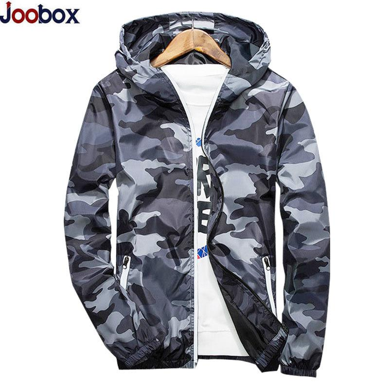 873a4d02f4c New 2018 Autumn Hooded Jackets Men Thin Camouflage Military Jacket Male  Plus Size XXXXXL Quick Dry Men Windbreaker Skin Jacket D18100803 Fleece  Leather ...