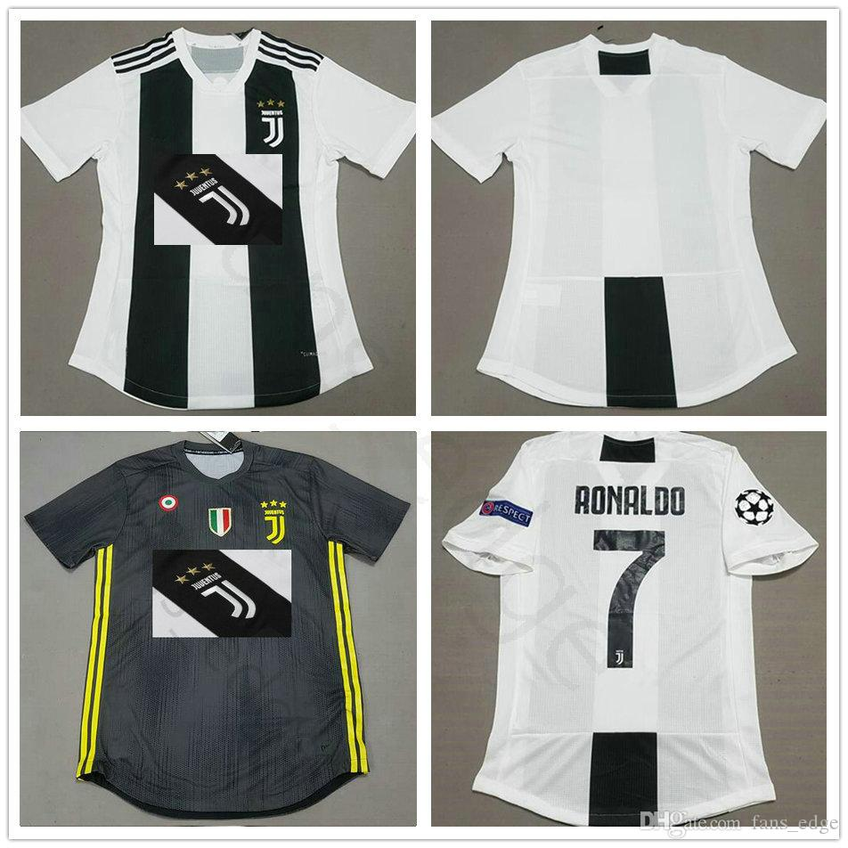 bfa172ff3 2018 2018 19 Player Version Juventus Soccer Jersey 7 Ronaldo 10 Dybala  Buffon Chiellini Costa Mandzukic Pjanic Custom Home Away Football Shirt  From Angel 01 ...