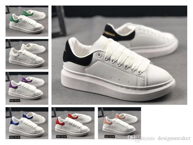 66ac88a3524 Compre Sapatas De Grife Dos Homens Das Mulheres De Moda Conforto Rendas Até  Sapatos Casuais De Luxo Plataforma De Couro Branco Tênis De Caminhada Sapato  De ...