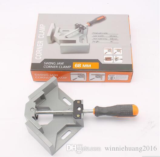 Envío Gratis 1 UNIDS Herramientas de carpintería de aluminio de una sola manija 90 grados de ángulo recto Clip Clamp Photo Frame Swing Jaw Corner Clamp Vise