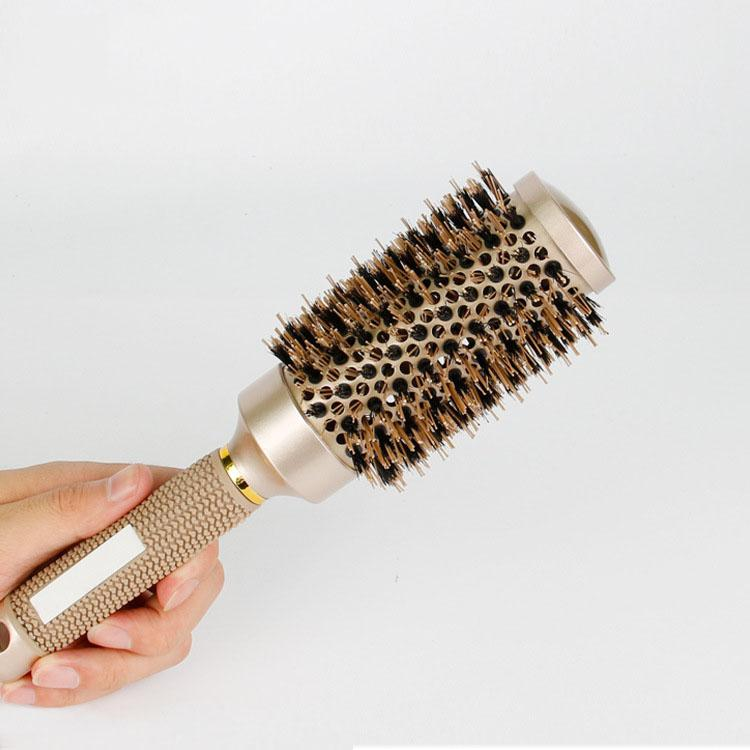 Iclouds Professional Hair Dressing Brushes Ceramic Straightening Hair Iron Round Comb 4 Size Hair Styling Tool Hairbrush