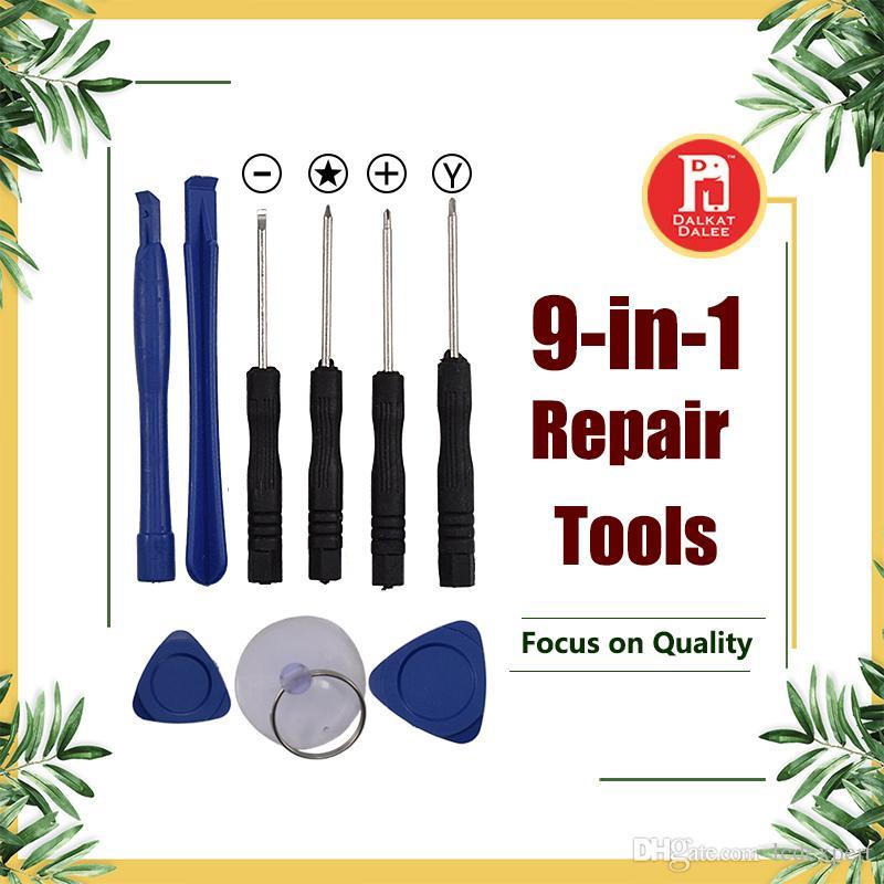 9 em 1 ferramentas de abertura kit de alavancas de reparação com chave de fenda y 5 ponto estrela pentalobe torx chave de fenda para apple iphone x 8 7 6 s 6 plus 5S