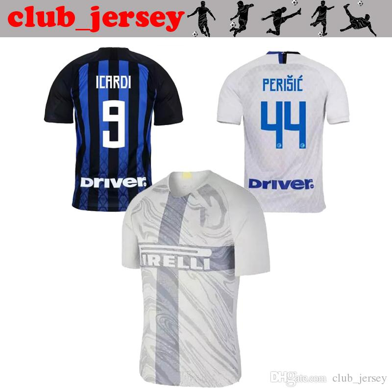 online retailer 63788 d93f0 2018 NEW Inter home away 3rd Soccer Jersey ICARDI thai quality CANDREVA  EDER PERISIC EVER BANEGA VECINO LAUTARO men football shirt