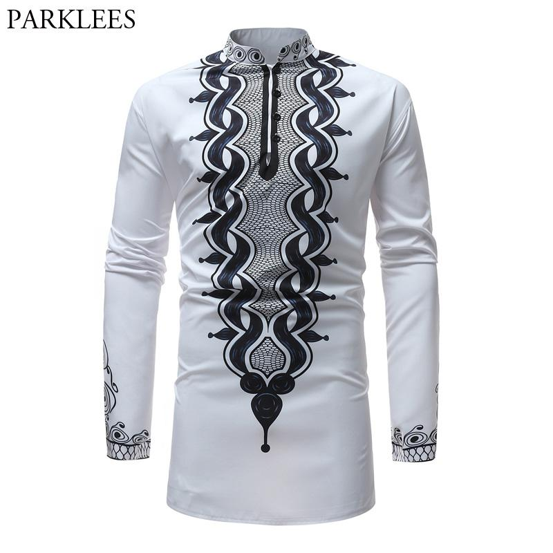 Tribal Men's Dress Shirts Casual