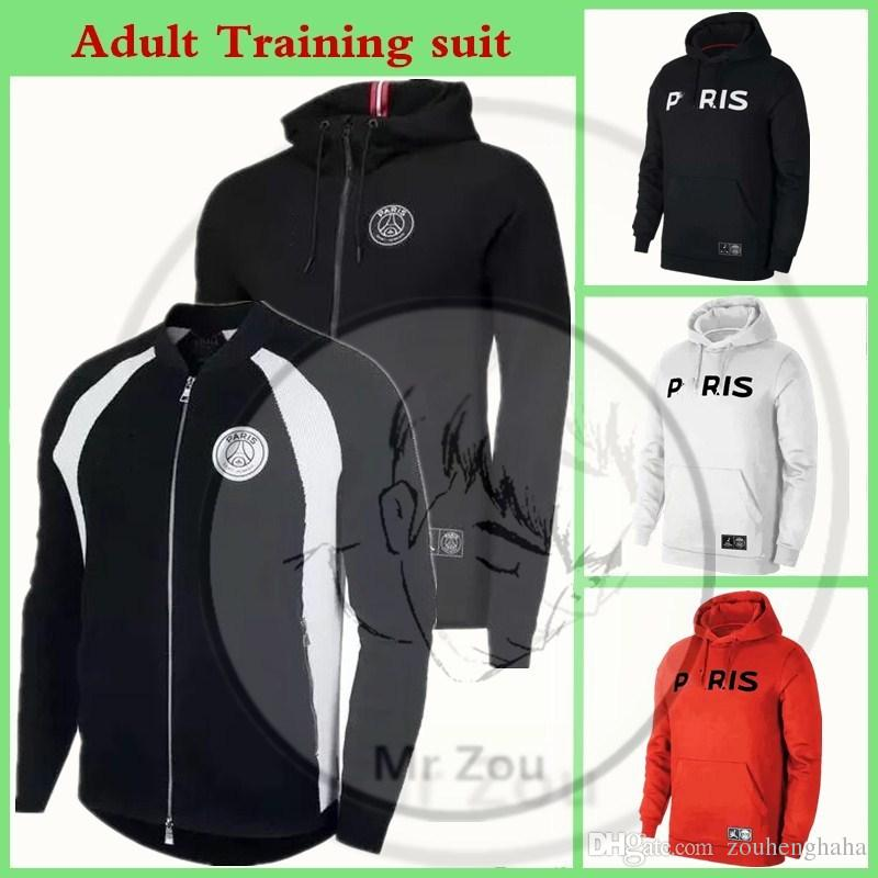 new high quality footwear undefeated x Paris Hoodies Zip training maillot football psg Jordon Tracksuit suit 2018  2019 mbappe soccer survetement DI MARIA CAVANI Chandal de futbol