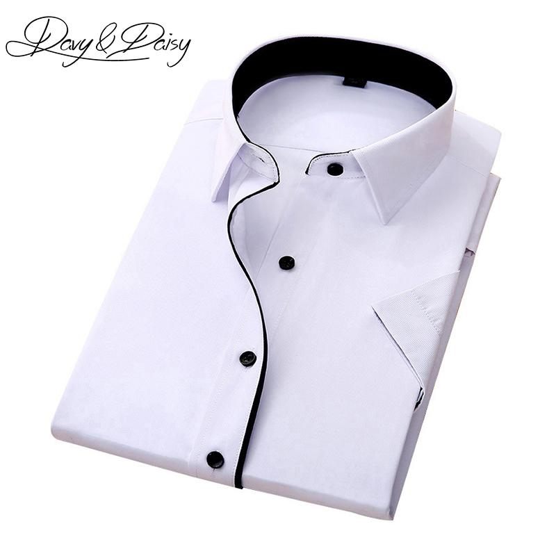 234d172637 Compre DAVYDAISY Alta Qualidade Social Camisa Dos Homens De Negócios Slim  Fit Manga Curta Sólida Sarja Camisas De Vestido Dos Homens De Verão Camisa  DS 155 ...