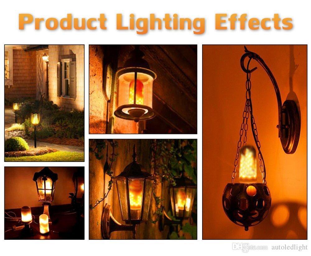 LED لهب النار تأثير ضوء لمبة E27 LED الوميض الخرز مصباح مقلد ديكور الخفيفة جو الإضاءة خمر المشتعلة صعودا