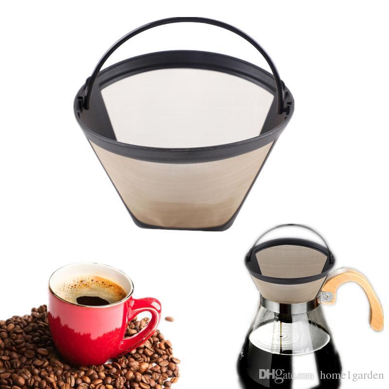 Wiederverwendbare Kaffeefilterkorb-Edelstahl-dauerhafter Kegel-Art handgemachter Kaffee-Filter-Werkzeug-Küchengeschirr