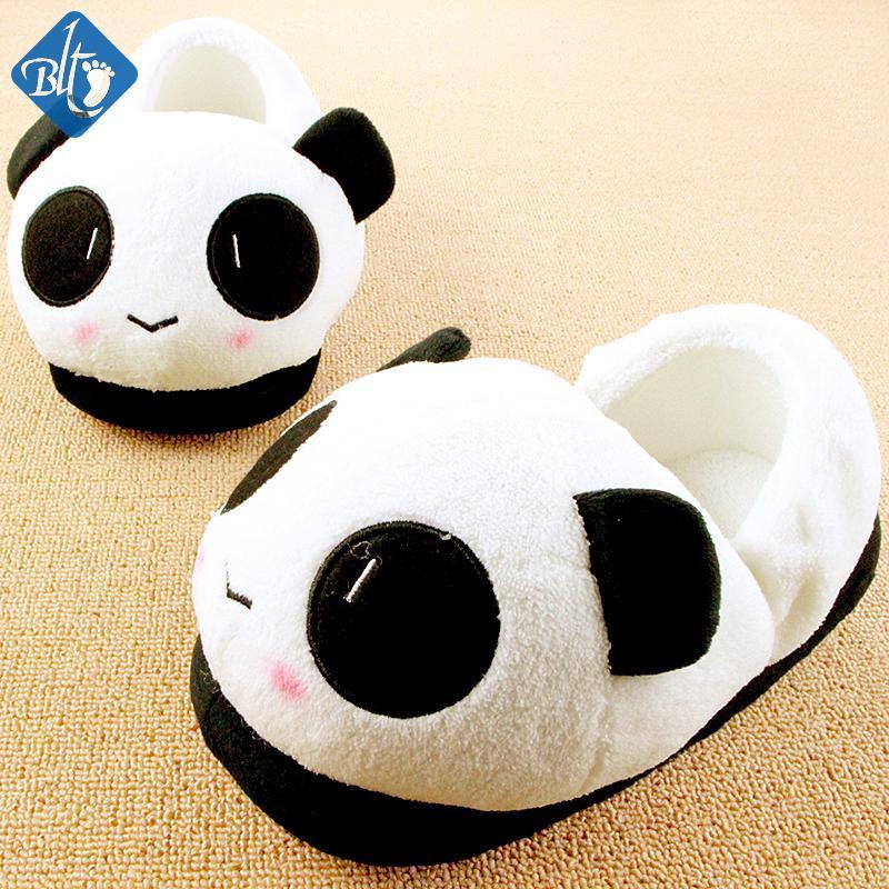 2893e3a7cc62 Wholesale Winter Home Shoes Indoor Slippers Men Women Cartoon Animals  Lovers Plush Cute Panda Pantuflas Antiskid Pantufas Pantofole Donna Booties  Mens Boots ...