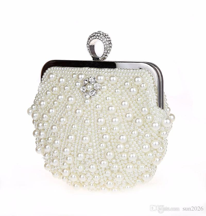 8b889e1483 Evening Bags Women Clutch Bags Evening Clutch Bag Wedding Bridal Handbag  Pearl Beaded Lace Rose Fashion Rhinestone Bags Luxury 2019 Small Handbags  Handbags ...