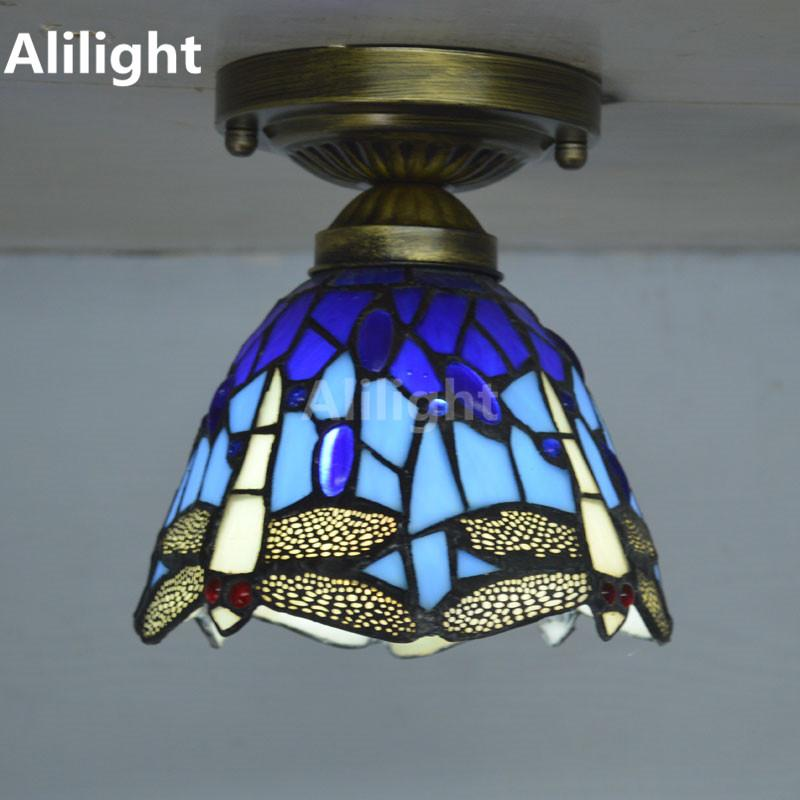 2018 tiffany ceiling light stained glass lampshade country dragonfly 2018 tiffany ceiling light stained glass lampshade country dragonfly living room indoor lighting e27 home decor lighting fixtures from fried aloadofball Gallery