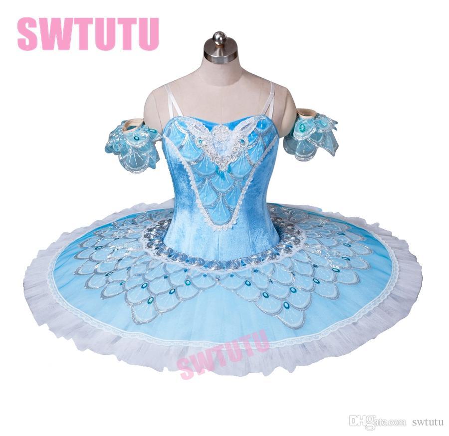 49da79c5b trajes de la etapa de la bailarina de ballet mujeres BT8928 adulto pájaro  azul clásica tutú profesional panqueque plato competición rendimiento ...