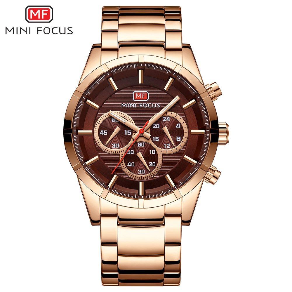 64aaf0a9d39 Compre MINI FOCO Negócio De Luxo Relógio Masculino 2018 Top Fashion Homens  Relógios De Aço Inoxidável Famosa Marca De Relógio De Quartzo Relogio  Masculino ...