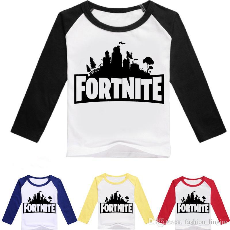 Impresa Fortnite Caliente Juego Camiseta Manga Niños Larga Compre B6HwY
