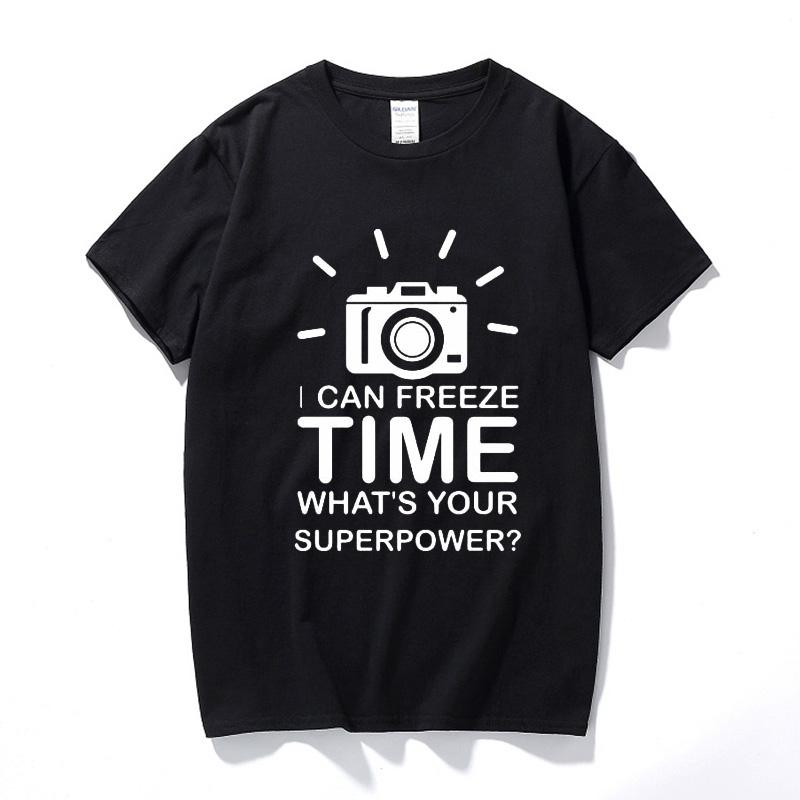 Birthday Gift Idea For Men Boyfriend Husband Son Brother Photographer Camera Freeze Time Photography Cameraman T Shirts Cool Boys