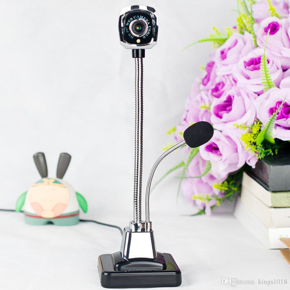 2018 Nueva M800 USB 2.0 Webcams con cable PC portátil 12 millones de píxeles Cámara de video Ángulo ajustable HD LED Visión nocturna con micrófono