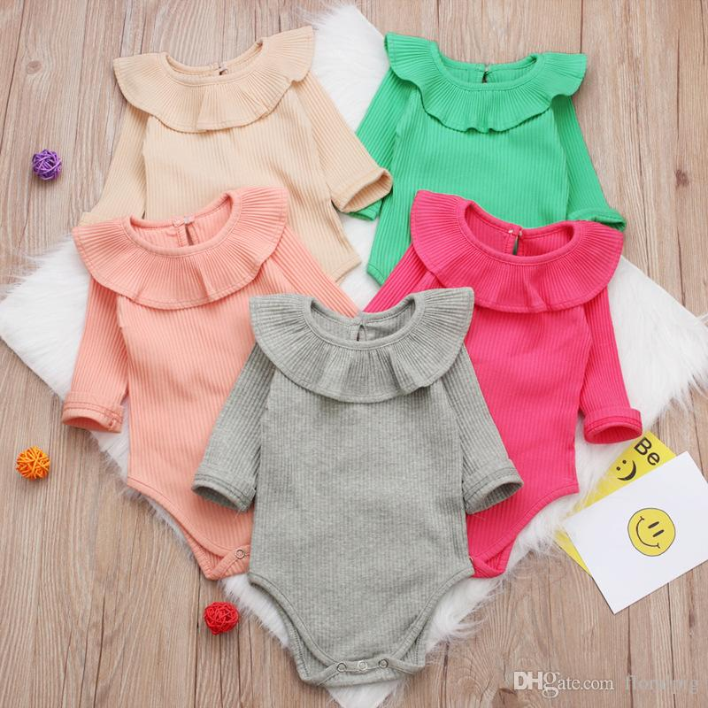 7eccce9222f9 Baby Girl Rompers 2019 Spring Autumn Newborn Baby Long Sleeve Infant ...