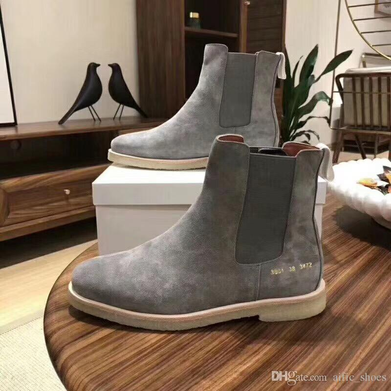 0a289331a4069 Mens Designer Common Projects Boots Designer Suede Ankle Boots For Winter  Snow Boots Fashion Luxury Mens Women Sneakers Casual Trainers Ankle Boots  Cowboy ...