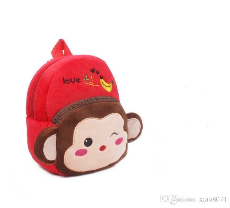 691d62baaf Hot Plush Monkey Cartoon Kid School Backpack Toy For Child Schoolbag ...