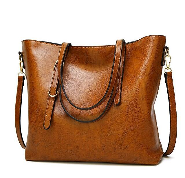 2019 Womens Leather Bags Designer Lady Shoulder Travel Satchel Purses  Vintage Handbags Crossbody Ladies Tote Large Capacity Bags Shoulder Bag  From ... 2bad431f64366