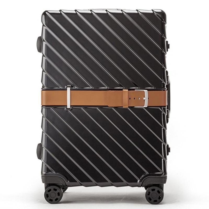 4131d5eabd0c PC Business Rolling Luggage Bags Aluminum Frame Alloy Spinner Wheels  Airplane Suitcase Bag Carry Outdoor Travel Trolley 20 24 28 Inch Kids Rolling  Suitcase ...