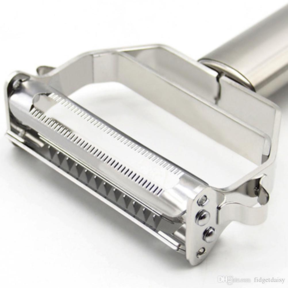 430 Stainless Steel 2 em 1 multifuncional Zesters Aço batata Peeler Grater Slicer cortador Legumes Cenoura Slicer Cozinha Cozinhar Ferramentas P