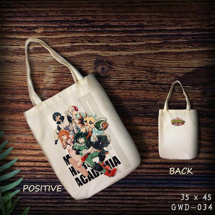 5a842e12210d My Hero Academy Custom Canvas Shopping Bag Anime Eco Reusable Foldable  Shoulder Bag Shopping Wholesale Custom Cartoon Reusable Grocery Bags  Handbags ...