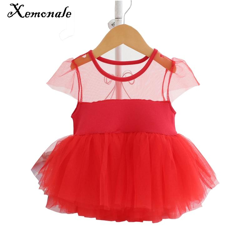 b7aafa022d392 Xemonale Newborn Baby Girls Infant Dress Party Birthday Outfits Cute  Princess Tutu Toddler Baby Girl Summer Dress for 1-2Years