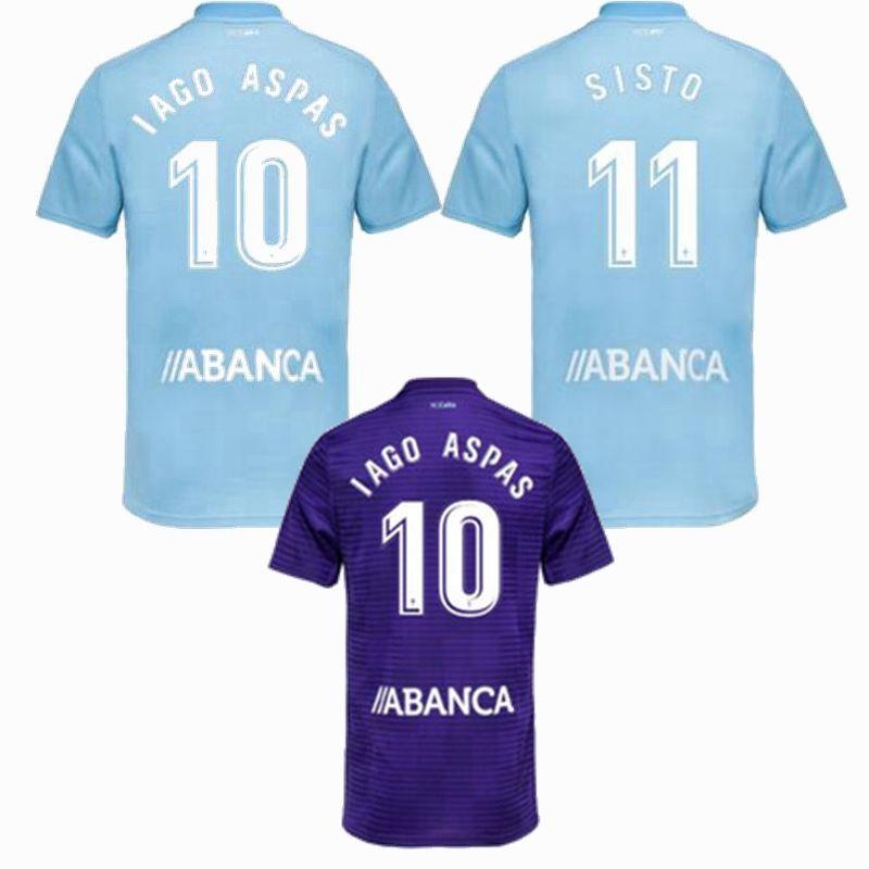 d6104f745 Compre 2018 2019 Celta De Vigo Camisa De Futebol 18 19 HUGO GUIDETTI  M.GOMEZ WASS IAGO ASPAS Casa Longe Celta Melhor Qualidade De Futebol Camisas  S 2xl De ...