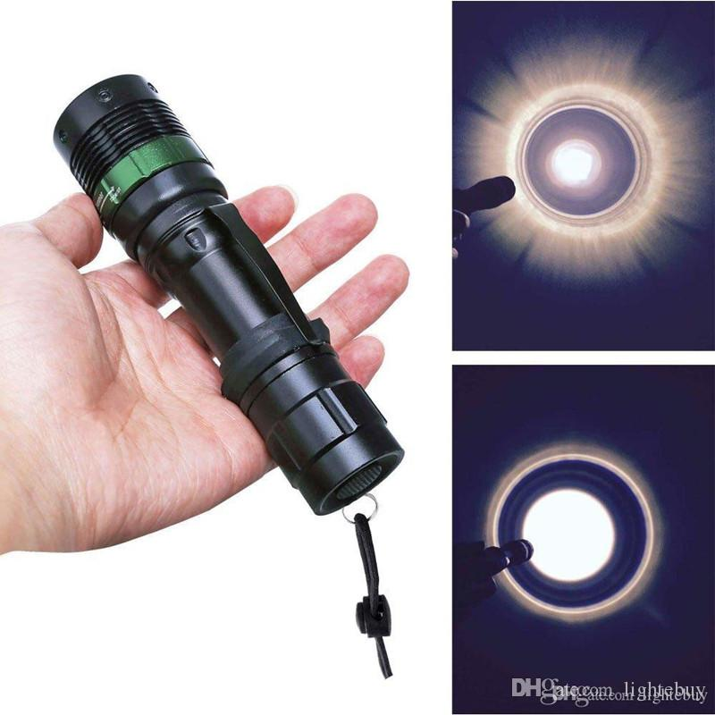 Mini LED Torch 7W 600LM XPE Q5 LED Flashlights Adjustable Focus Zoom Flash Light Lamp Wholesale
