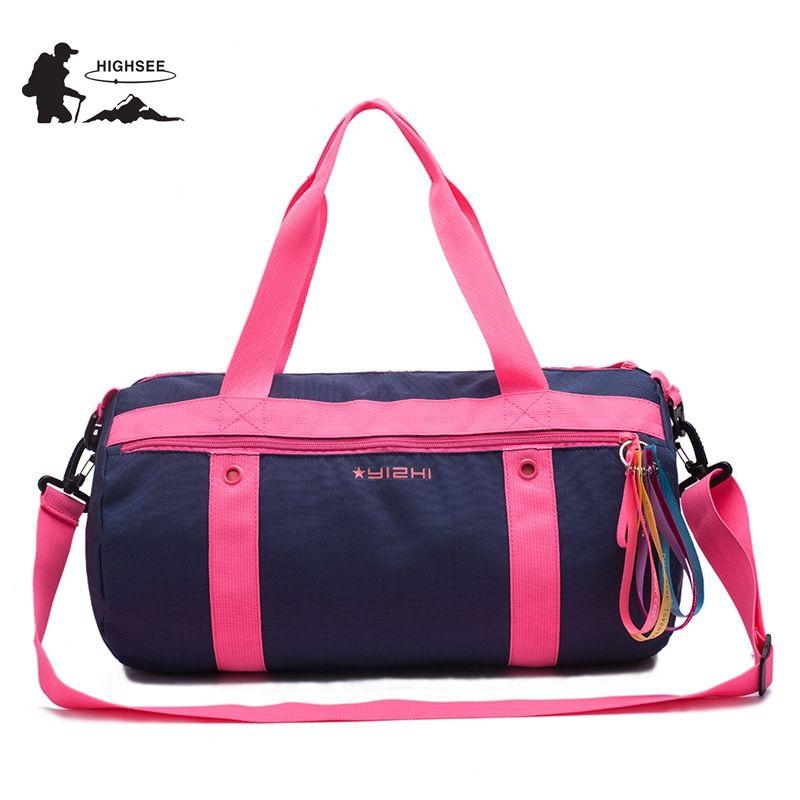 769136c1eda5 2019 HIGHSEE Outdoor Sport Gym Bag Men Fitness Bags Women Training Handbag  Shoulder Crossbody Dry Wet Separation Swimming Bag Woman From Dragonfruit