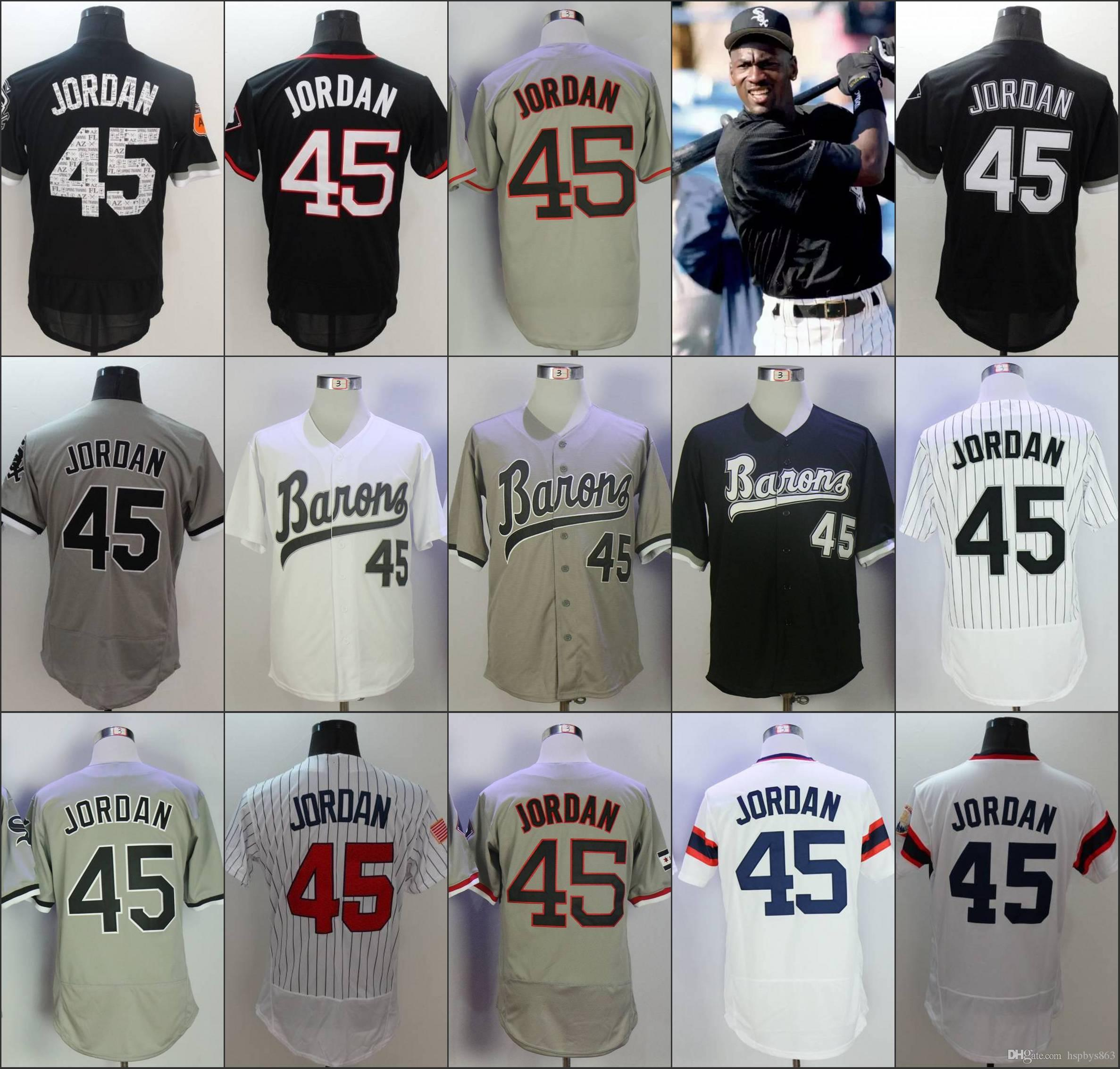 2018 Cheap Men'S Chicago #45 Jordan Baseball Jerseys White Army Green Black  Grey Cool Base Flex Base Throwback Jersey From Hspbys863, $17.92 | Dhgate .Com