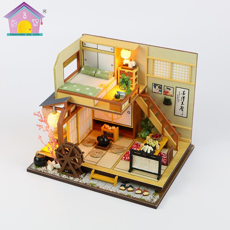 New Furniture Doll House Wooden Miniature DIY DollHouse Furniture Kit  Assemble Doll Home Toys For Children M034 Doll Houses Cheap Doll Houses New  Furniture ...