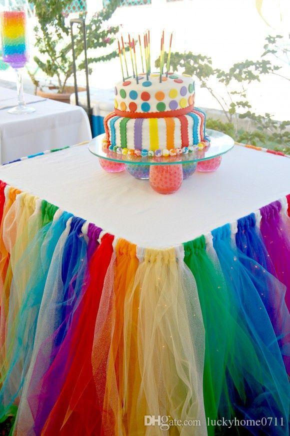 Cheap Table Skirt For Birthday Party Best Fabric