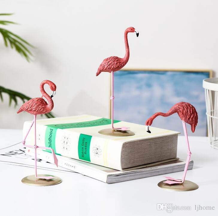 2019 New Resin Pink Flamingo Home Decor Figure For Girl Ins Hot Gifts From Ljhome 704