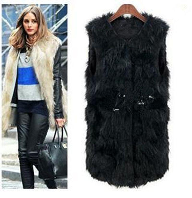 4d4ca5cfef4 2019 2018 6XL Women Faux Fur Vest Coat Winter Sleeveless Fake Fur Vest  Jacket Warm Plus Size Office Outwears Women Waistcoat YR199 From Baldwing