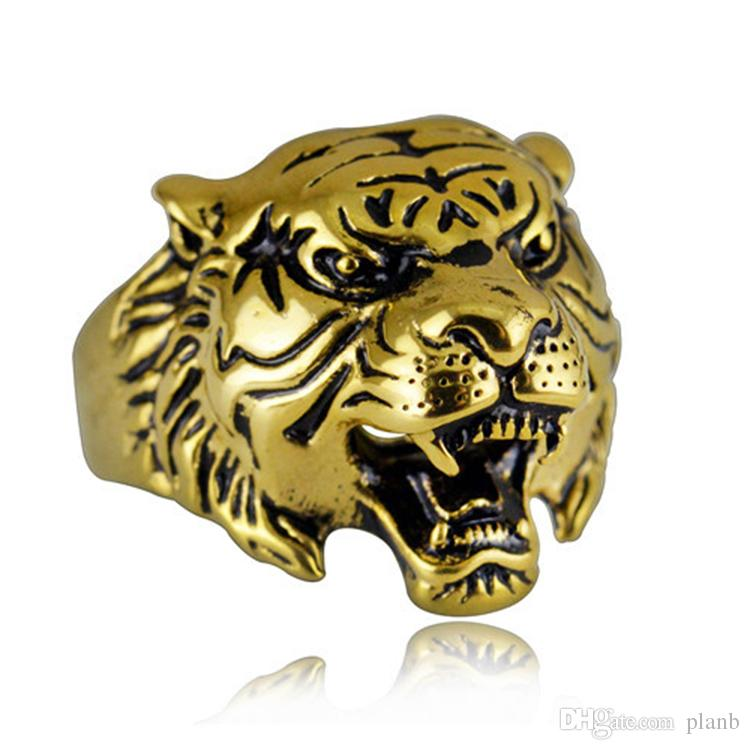 vintage tiger animal women anillos men statement zodiac item punk alloy anel chinese jewelry finger rings