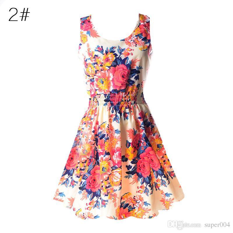 753c1f00a9 2018 New Summer Korean Women Vestidos Casual Bohemian Floral Leopard  Sleeveless Vest Printed Beach Chiffon Dress Going Out Dresses Summer Dress  From ...